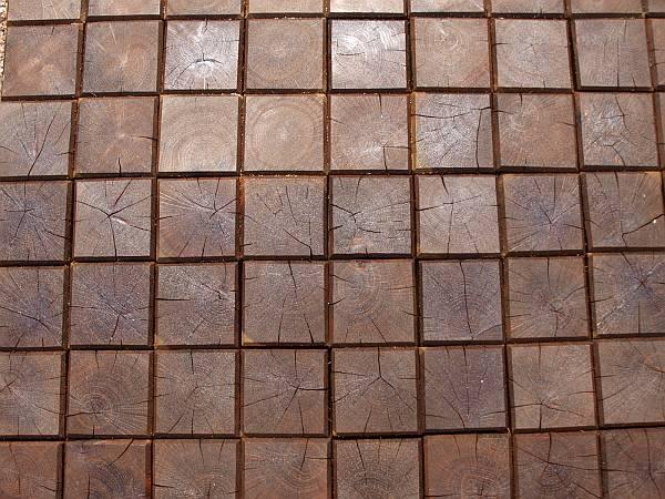 Dřevěné špalíky podlaha